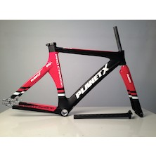 Planet X Pro Carbon Track Frameset / XSmall / Gloss Red / Matt Black (Cosmetic Damage)