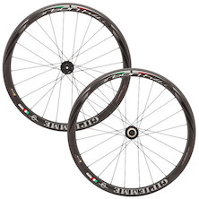 Gipiemme H4.0 Carbon Tubular 700c Disc Wheelset / Shimano/Sram 10 Speed Road Cassette or 11 Speed MTB Cassette (Used)