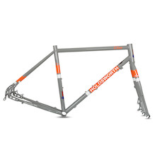 Holdsworth Elan Road Disc Frameset / Large / Smoke Grey (Cosmetic Damage)
