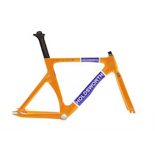 Holdsworth Roi De Velo Carbon Track Fork/ Team Orange (Steerer Cut To 23cm)