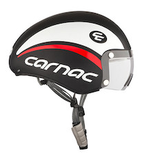 Carnac Kronus Time Trial Helmet / 58 - 62cm / Black White And Red / Lightly Scratched