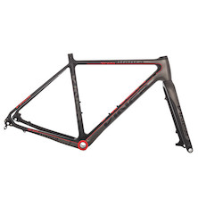 Viner Strada Bianca Carbon Gravel Road Frameset / Large / Anthracite & Red (Paint Chip On Seat Stay)