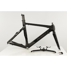 Planet X Stealth Pro Carbon Time Trial Frameset / XLarge / Jet Black (USED - Cosmetic Damage - Including Headset, Selcof Ultra TT  Handlebars And TRP Brake