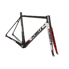 Planet X RT-80 Carbon Road Frameset / X Large / Black/White/Red / Cosmetic Blemish