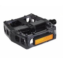 VP-577 Polycarbonate Flat Platform BMX Pedals / Black Clear