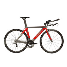 Planet X Stealth SRAM Rival 22 Time Trial Bike Medium Anthracite And Fluro Red