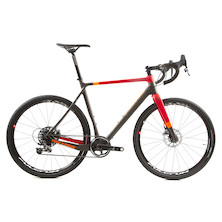 On-One Space Chicken SRAM Force 1 Gravel Bike 27.5 Wheels  Large 57cm  Anthracite And Red Chipped Stay