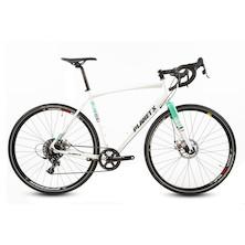 Planet X Full Monty SRAM Apex 1 Mechanical Gravel Bike  X Large  White And Celeste