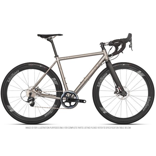 Planet X Tempest Titanium Gravel Road Bike Sram Force 1 HRD Vision Metron 40 700C Wheel