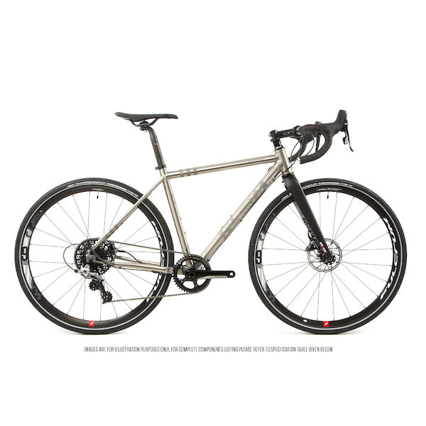 Planet X Tempest V3 Titanium Gravel Road Bike Sram Rival 1 HRD 700C Wheel