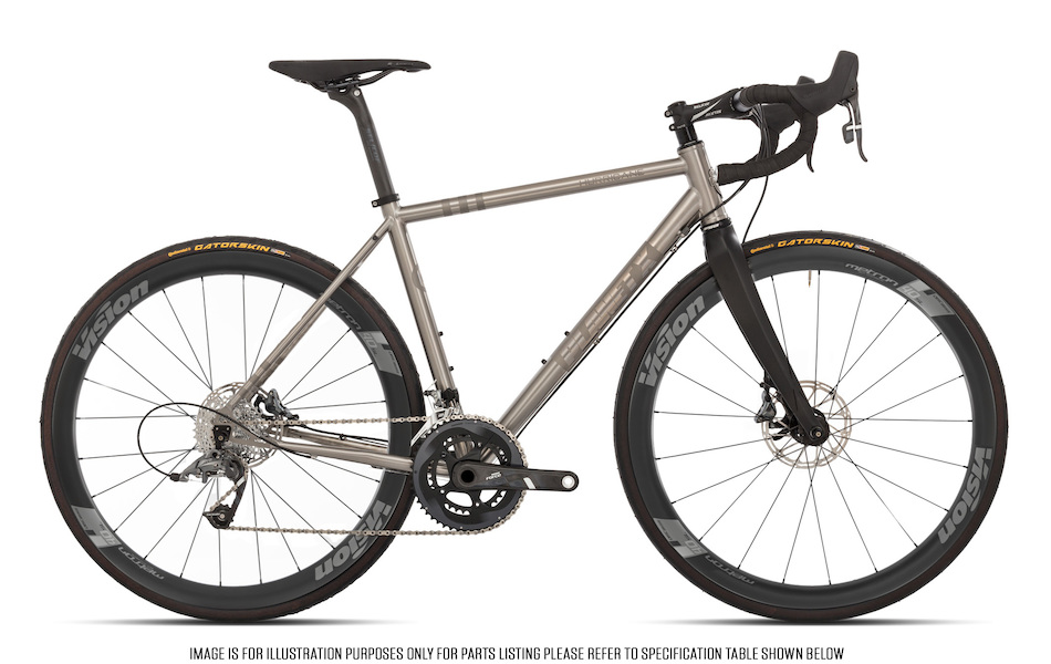 Planet X Hurricane Sram Force 22 HRD Vision Metron 40 Titanium Endurance Bike Fully Loaded Edition