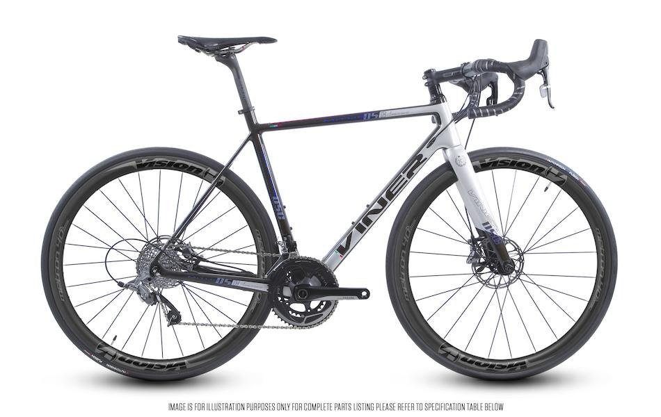 Viner Mitus Disc SRAM Rival 22 HRD Vision Metron 40 Road Bike Limited Edition