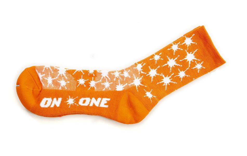 On-One Thicky Merino Socks Orange Splat