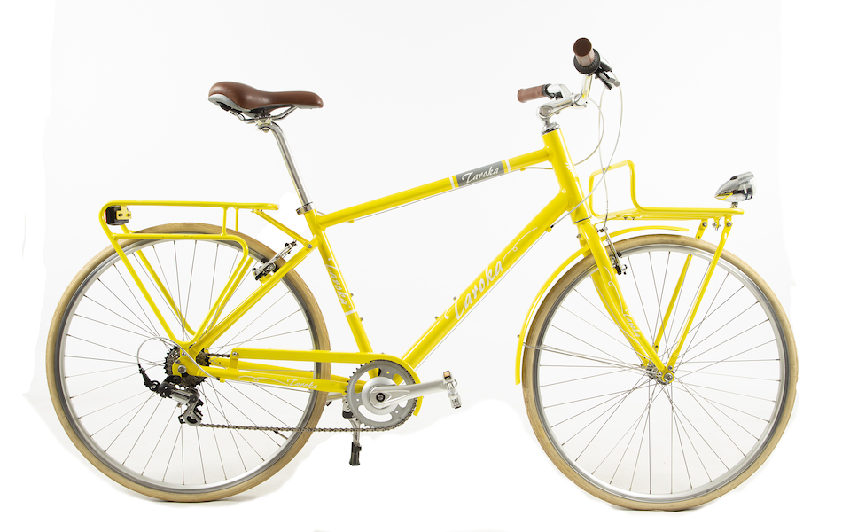 Taroka Yellow Touring Bike 7 Speed Front And Rear Rack / Large